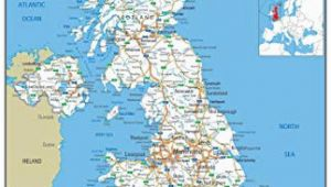 Road Map Of north East England United Kingdom Uk Road Wall Map Clearly Shows Motorways Major Roads Cities and towns Paper Laminated 119 X 84 Centimetres A0