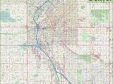 Road Map Of Utah and Colorado Large Detailed Street Map Of Denver