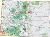 Rocky Mountains Colorado Map Colorado Dispersed Camping Information Map