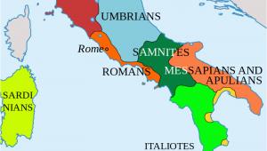 Roman Map Of Italy Italy In 400 Bc Roman Maps Italy History Roman Empire Italy Map