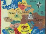 Romania On A Map Of Europe Illustrated Map Of Eastern Europe Map Compass In 2019
