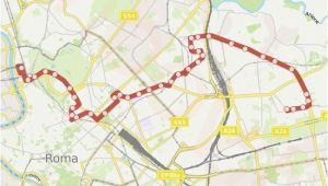 Rome Italy Bus Map Linie 61 Fahrplane Haltestelle Karten Balsamo Crivelli