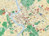 Rome Italy Sightseeing Map Map Of Rome tourist attractions Sightseeing tourist tour