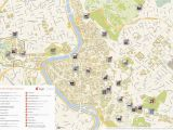 Rome Italy Sightseeing Map Rome Printable tourist Map Sygic Travel