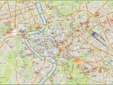 Rome Italy Sightseeing Map Rome tourist Map