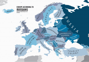 Russia On Europe Map Europe According to Russians Interesting Funny Maps Map