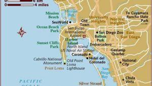 San Diego California On Map Map Of San Diego