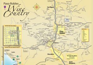 San Luis Colorado Map Paso Robles Wine Tasting Map Paso Robles Daily News