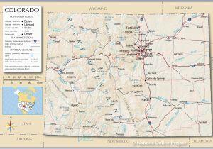 San Luis Colorado Map Rv Parks California Coast Map Detailed Colorado Detailed Road Map