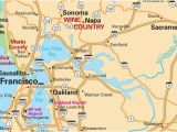 San Rafael California Map San Francisco Maps for Visitors Bay City Guide San Francisco