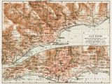 San Remo Italy Map Old Map Of Sanremo In 1913 Buy Vintage Map Replica Poster Print or