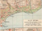 San Remo Italy Map San Remo Etsy