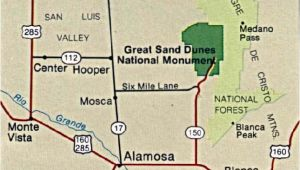 Sand Dunes Colorado Map Maps Of United States National Parks and Monuments