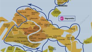 Santa Lucia Italy Map Transport Vaporetto Waterbus Bus Lines Maps Venice Italy