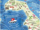 Santorini Italy Map 8 Best A Smart Map Of Santorini Images Geography Map Map Design