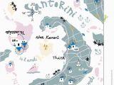 Santorini Italy Map Santorini Journaling In 2019 Santorini Map Santorini Map Icons