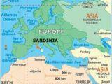 Sardinia On Map Of Europe Europe
