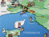 Sardinia On Map Of Europe Italy northwestern Regions Map Sardinia Map Illustration