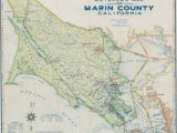 School District Map California 1948 Metsker Map Of Marin County California Neatline Antique Maps