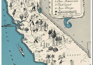 Seaside California Map California Map It Vintage Pinterest California Beach