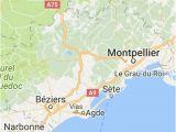 Sete Map France Pinterest