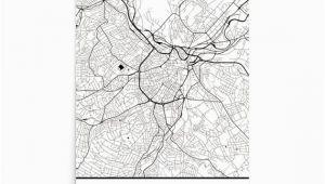 Sheffield England Map Sheffield Map Sheffield Art Sheffield Print Sheffield