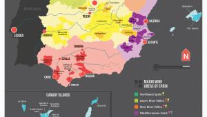Show Me the Map Of Spain Map Of Spanish Wine Regions Via Reddit Spain Map Of