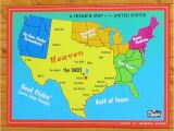 Show Texas Map A Texan S Map Of the United States Texas