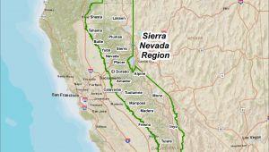 Sierra Nevada Mountains California Map Sierra Nevada Mountains Map Inspirational Physical Map Sierra Nevada