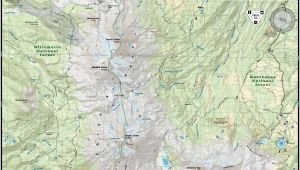 Sisters oregon Map Three Sisters Wilderness Map Adventure Maps