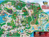Six Flags Georgia Park Map Park Map Six Flags Great America