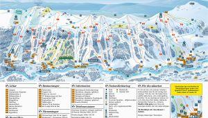 Ski Resort Map France Trail Map Tanndalen