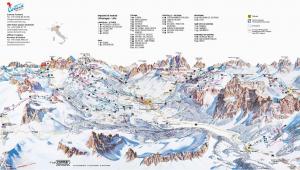 Ski Resorts Italy Map Cortina D Ampezzo Slope Map Dolomiti Superski
