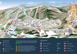 Ski Resorts Michigan Map Mountain Creek Resort Trail Map Onthesnow
