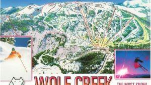 Skiing Colorado Map Wolf Creek Ski Resort Colorado Trail Map Postcard Ski towns