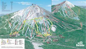 Skiing In oregon Map Mt Bachelor Mt Bachelor oregon Skiing Ski Magazine Trail Maps