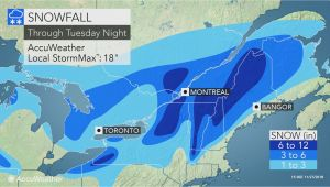 Snow Depth Map Canada nor Easter to Lash northern New England with Coastal Rain