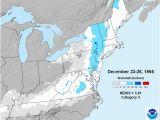 Snowfall Map New England Christmas Eve 1966 Snowstorm Weatherworks