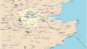 South East England Rail Map Rail Map Of southeast England Johomaps
