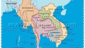 South East Italy Map Political Map Of Myanmar Thailand Laos Cambodia Vietnam