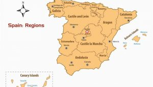 Spain and Canary islands Map Regions Of Spain Map and Guide
