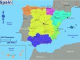 Spain areas Map Dividing Spain Into 5 Regions A Spanish Life Spain