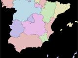Spain areas Map Spain Wikipedia