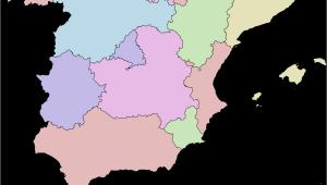 Spain Autonomous Regions Map Autonomous Communities Of Spain Wikipedia