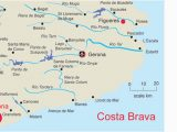 Spain Costa Brava Map Map Of Costa Brave and Travel Information Download Free