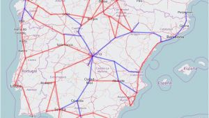 Spain High Speed Rail Map Rail Map Of Spain and Portugal