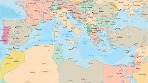 Spain Mediterranean Coast Map Political Map Of Mediterranean Sea Region