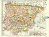 Spain On A Map Of the World Map Of Spain and Portugal From 1904 Vintage Printable Digital