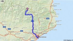 Spain Road Maps Driving Directions From Barcelona Spain to andorra