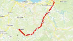 Spain Train Route Map C1 Route Time Schedules Stops Maps San Sebastian Donostia
